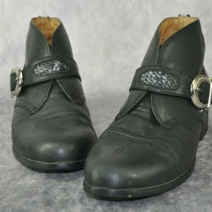 Ariat 16301 Women's Black Leather Ankle Boots Size